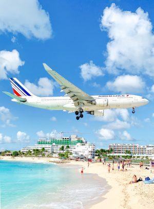 Maho Beach Air France